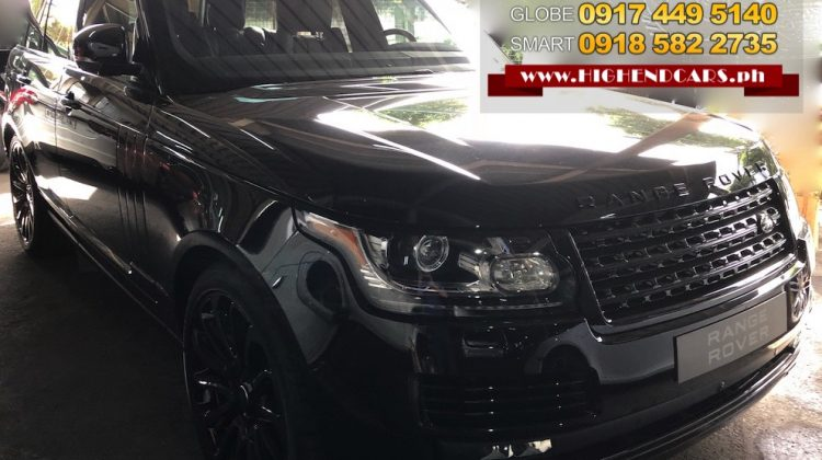 2018 RANGE ROVER SUPERCHARGED BLACK PACK EDITION
